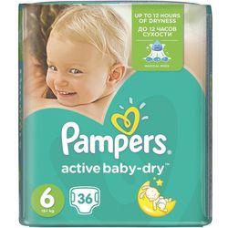 Pieluchy Pampers Active Baby-Dry 6 Extra Large (36 sztuk) z kategorii Pieluchy jednorazowe