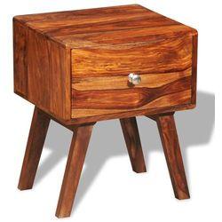 szafka nocna/stolik boczny vintage, drewno sheesham z 1 szufladą 55 cm marki Vidaxl