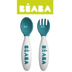 Beaba  - sztućce plastikowe w etui blue
