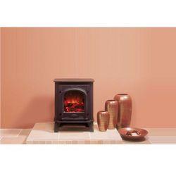 Stovax - dobra oferta Mały kominek stockton, kolor czarny matowy -żeliwno-metalowy kominek stojący