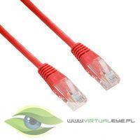 kabel krosowy rj45, bez osłonki, cat. 5e utp, 1.8 m, czerwony (04712) darmowy odbiór w 21 miastach! marki 4w