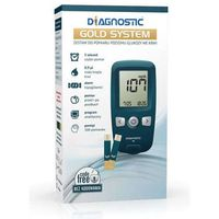 Diagnosis Glukometr diagnostic gold system zestaw do pomiaru glukozy we krwi x 1 sztuka