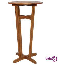Vidaxl stolik barowy z litego drewna akacjowego, 60 x 105 cm