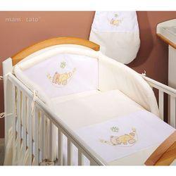 MAMO-TATO pościel 2-el Miś w hamaku w kremie do łóżeczka 60x120cm z kategorii Komplety pościeli dla dzieci
