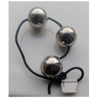 Anal balls Steel leather string 3x40mm