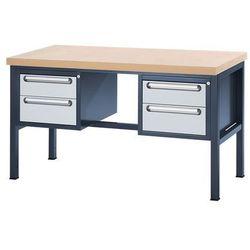 Stół warsztatowy z płytą MDF, 4 szuflady, wys. 2x150, 2x180 mm, wys. x szer. x g