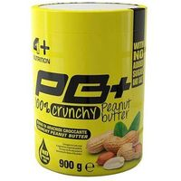 pb+ 100% peanut butter crunchy - 900g marki 4 sport nutrition