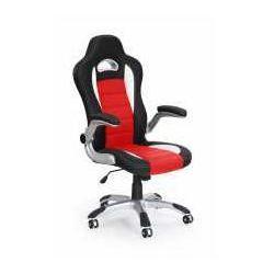 Fotel lotus czarno-czerwony - zadzwoń i złap rabat do -10%! telefon: 601-892-200 marki Halmar