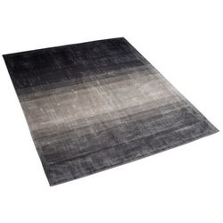 Dywan szaro-czarny 160 x 230 cm krótkowłosy ercis marki Beliani