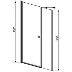 Radaway Eos DWS - drzwi wnękowe dwuczęściowe (wahadłowe) 110 cm 37991-01-01NR prawe (drzwi prysznicowe)