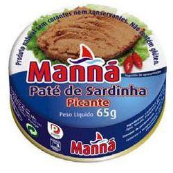 Portugalska pasta z sardynek pikantna 65g Manná (przetwór rybny)