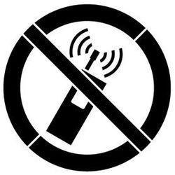 Szabloneria Szablon malarski z tworzywa znak zakazu używania tel. komórkowych gp013 - 85x85 cm