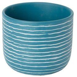 Doniczka ceramiczna ozdobna 17 cm niebieska marki Goodhome