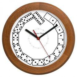 Zegar drewniany rondo Domino, ATW301KK