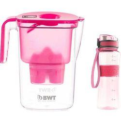 BWT dzbanek filtrujący Vida + sportowa butelka, różowy