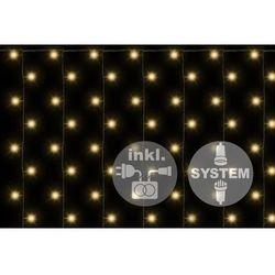 Diled firanka świecąca - 200 LED ciepły biały + zasilanie