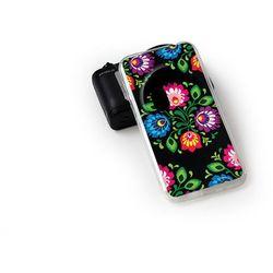 Fantastic Case - Asus Zenfone Zoom - etui na telefon Fantastic Case - czarna łowicka wycinanka - produkt z ka