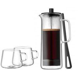 Kawiarka tłokowa z 2 filiżankami do kawy WMF