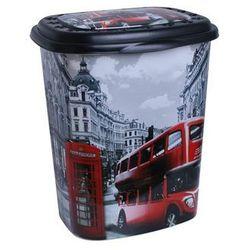 Kosz na pranie dekorowany Londyn 45l (5907569785049)