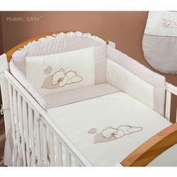 MAMO-TATO pościel 2-el Śpiący miś w brązie do łóżeczka 70x140cm z kategorii komplety pościeli dla dzieci