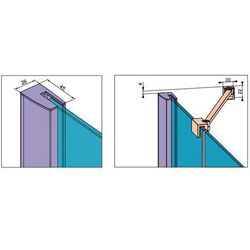 Radaway  fuenta new dwj drzwi wnękowe jednoczęściowe lewe 110 cm 384015-01-01l