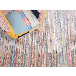 Beliani Dywan wielokolorowy bawełniany 80x150 cm mersin