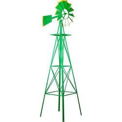 Makstor.pl Zielony wielki wiatrak 245 cm dekoracja na ogród (30050147)