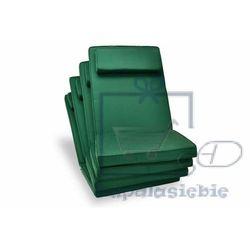 Komplet 4 x poduszka garth na krzesło zielona marki Divero