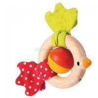 Plan toys Drewniana grzechotka ptaszek