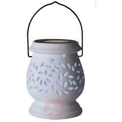 Biały solarny lampion LED Clay Lantern