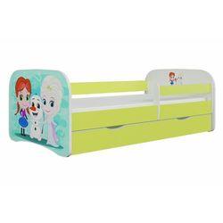 Łóżko dla dziecka, barierka, babydreams, kraina lodu, zielone