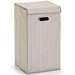 Zeller Składana torba na pranie, ubrania stripes - kosz na pranie, pojemność 60 l,