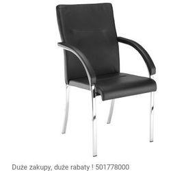 Krzesło konferencyjne neo lux 4 l arm chrome marki Nowy styl