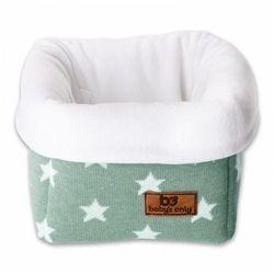 Baby's only , star koszyk na przybory 17x20x14 cm, miętowy/biały