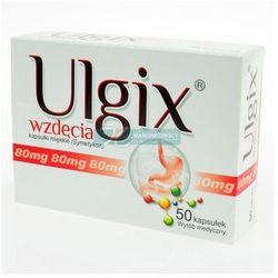 Ulgix wzdęcia 80 mg x 50 kaps, postać leku: kapsułki
