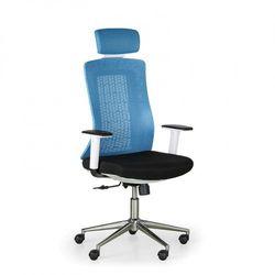 Krzesło biurowe eden, niebiesko/białe marki B2b partner