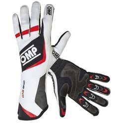 Rękawice OMP ONE EVO - Czarno / biało / czerwony - produkt z kategorii- Rękawice motocyklowe