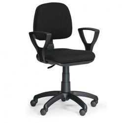 Biurowe krzesło MILANO z podłokietnikami - czarne