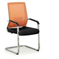 B2b partner Krzesło konferencyjne elite net, pomarańczowy/czarny