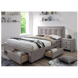 Łóżko tapicerowane Devoro - beżowe
