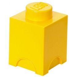 POJEMNIK LEGO 1 ŻÓŁTY - LEGO POJEMNIKI, 0126