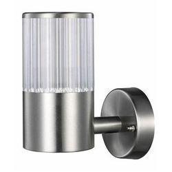 Polux Zewnętrzny kinkiet ogrodowy collum srebrny prosty (5901508300683)