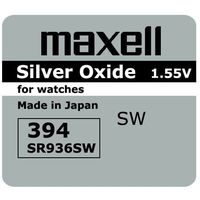 bateria srebrowa mini Maxell 394 / 380 / SR 936 SW / G9 (bateria elektryczna)