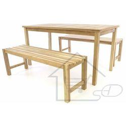 Stół z ławkami z drewna tekowego marki 1