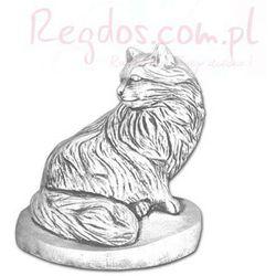 Figura betonowa kot długowłosy
