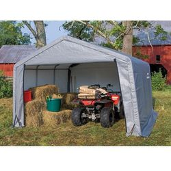 Shelterlogic Namiot garażowy 3,7 x 3,7 m szary