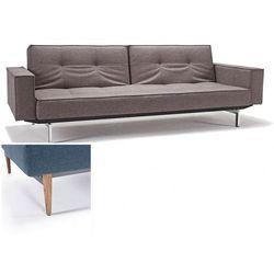INNOVATION iStyle Sofa Splitback z podłokietnikami szarobeżowa 521 nogi jasne drewno - 741010020521-741007020-10-1-6 - produkt z kategorii- Sofy