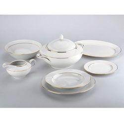 Zakłady porcelany chodzież s.a. Serwis obiadowy złota rita z wazą 12/41 -chodzież (5901832369868)