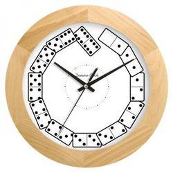 Zegar drewniany solid Domino