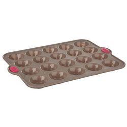 Uniwersalna forma do pieczenia muffinek, z silikonową powłoką, 20 muffinek